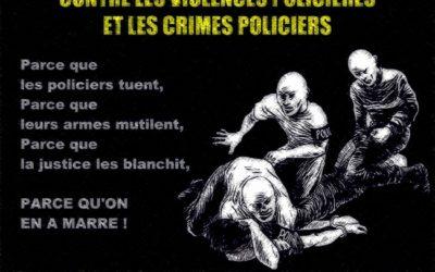 5 avril 2014 : manifestation contre les crimes policiers et les violences policières
