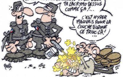 Reporterre.net – Les gaz lacrymogènes : dangereux pour la santé, mais… silence d'État !