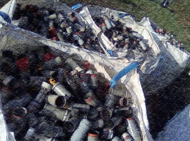 Les grenades utilisées dans l'opération militaire de Notre Dame des Landes