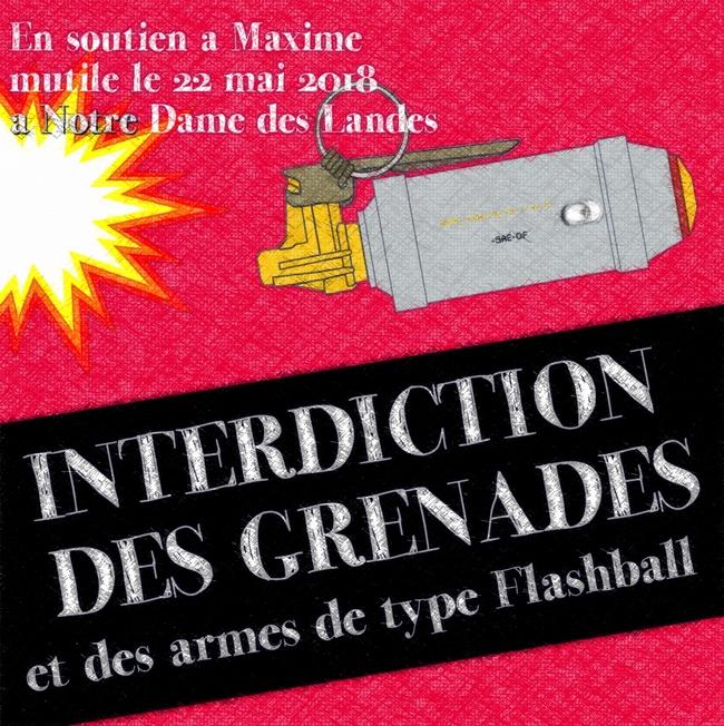 Rassemblements dans toutes les villes pour Maxime et pour la suppression des grenades