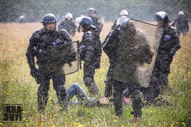 Maxime P., mutilé par une grenade GLI F4 à Notre Dame des Landes le 22 mai 2018