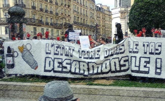 Quelques images des rassemblements pour Maxime et contre les grenades